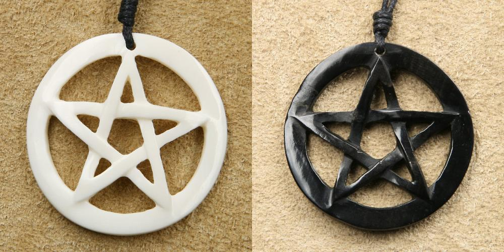 Pentagramm-Schmuck-Horn-Knochen