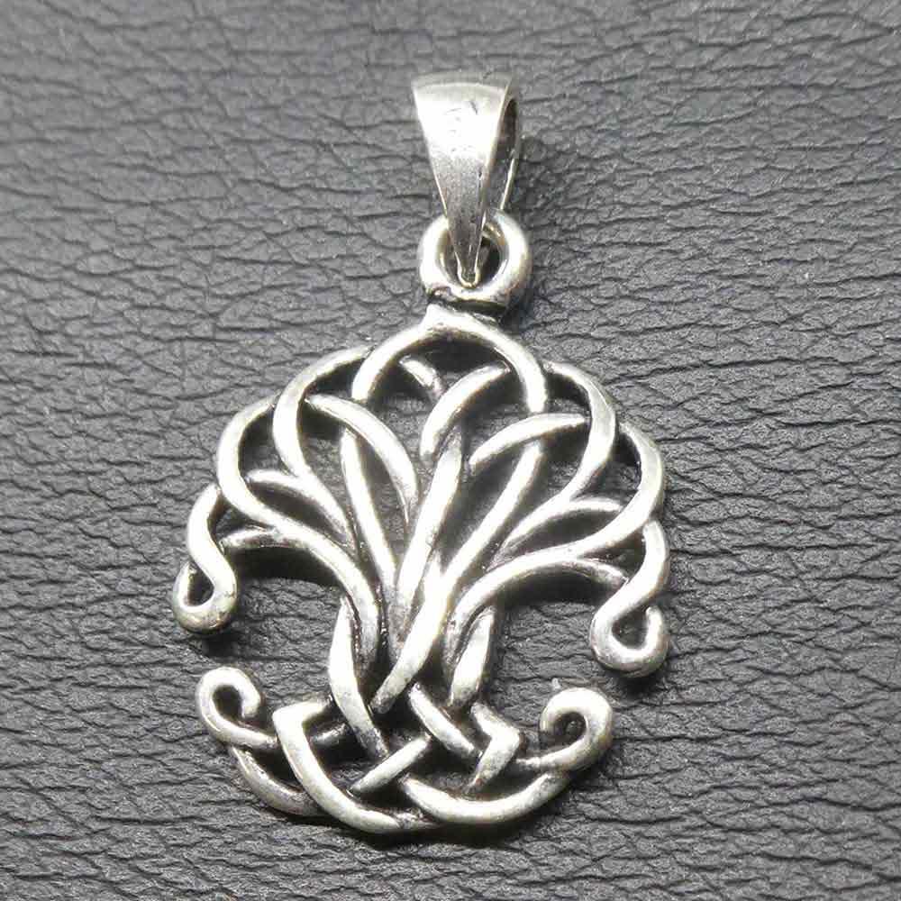 Lebensbaum Kettenanhänger Kelten Knoten Silber