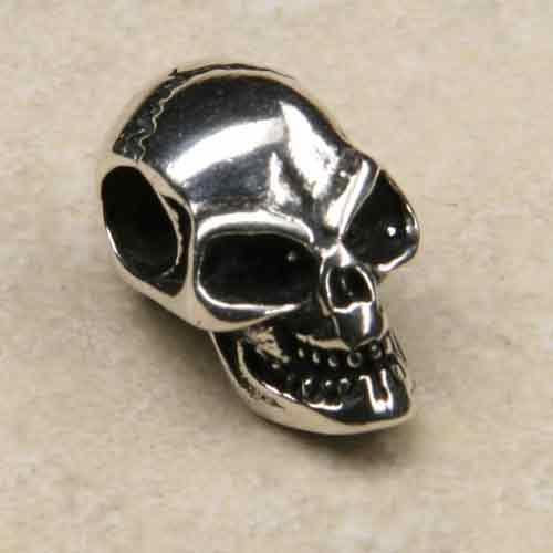Totenkopf Schmuck Silber Anhänger