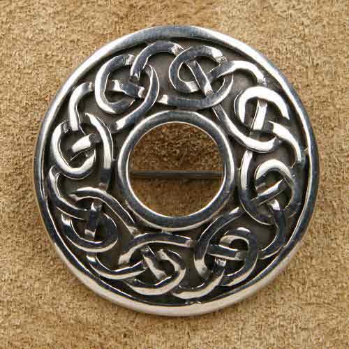 Keltische Silberschmuck Brosche Rund 925 Silber
