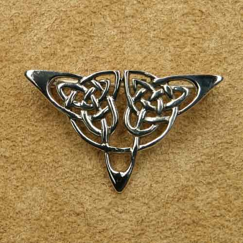 Keltische Silberschmuck Brosche Dreieck 925 Silber