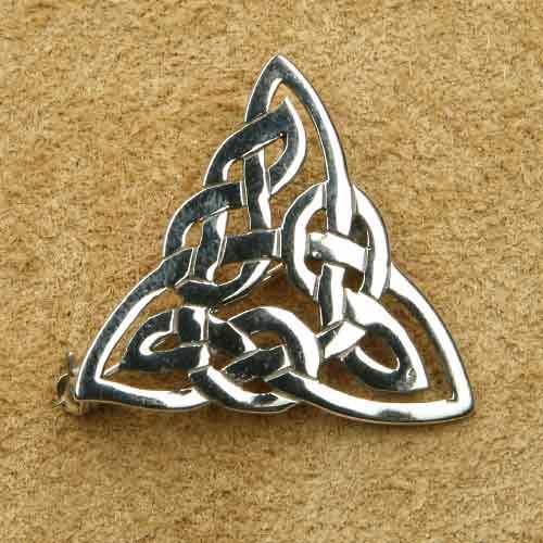 Dreieck Broschen Silberschmuck keltisch