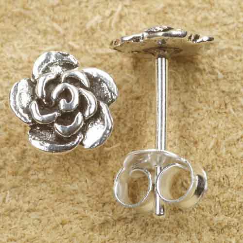 Blume Ohrstecker Silber