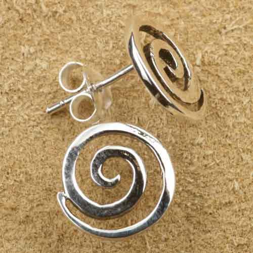 Spirale Ohrstecker Silber
