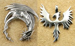 Drachen Silberschmuck Anhänger