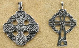 Keltenkreuz Silberschmuck Anhänger