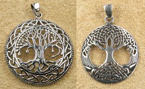 Lebensbaum Silberschmuck Anhänger