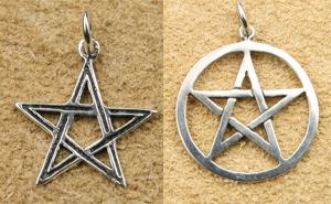 Pentagramm Silberschmuck Anhänger