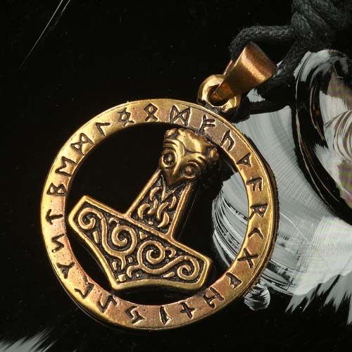 Thor Hammer Runen Schmuck Bronze