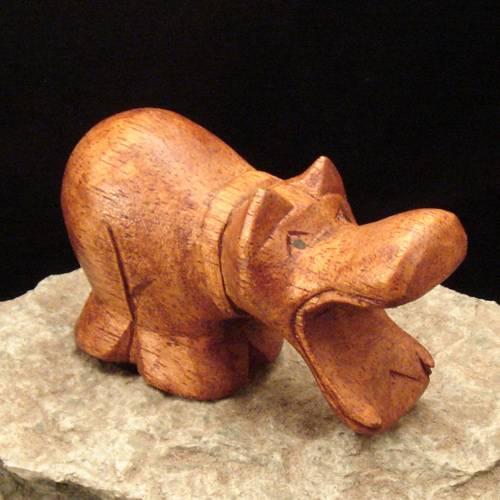 Holzschnitzerei Nilpferd