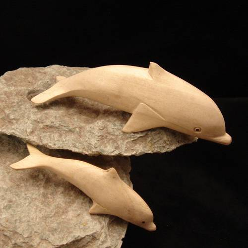 Holzschnitzerei Delphin