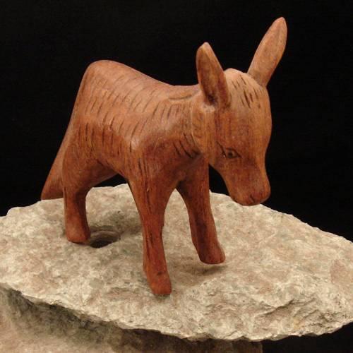 Holzschnitzerei Esel
