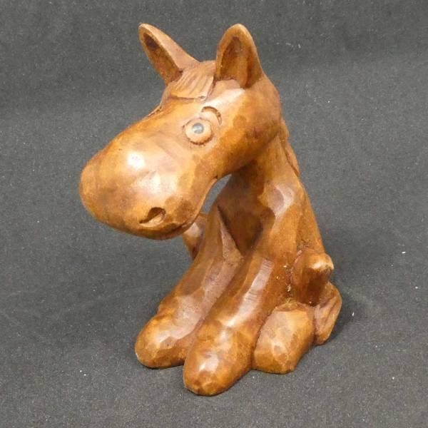 Pferd Schnitzerei Holz Figur Cartoon