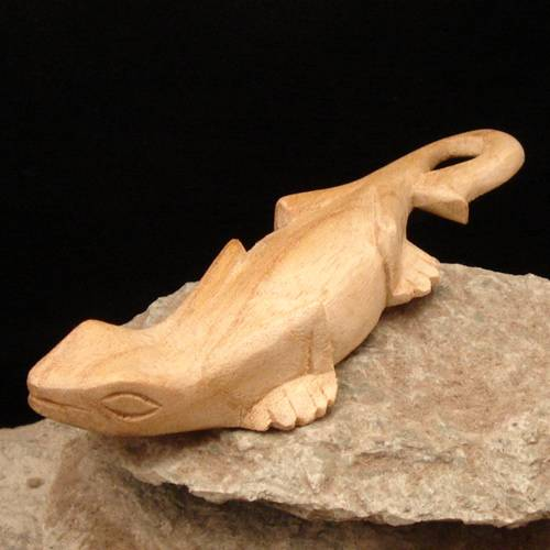 Gecko hell Schnitzerei