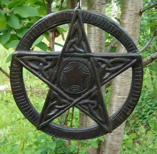 Pentagramm Schnitzerei klein