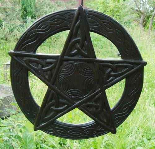 Pentagramm Schnitzerei Ø 32cm