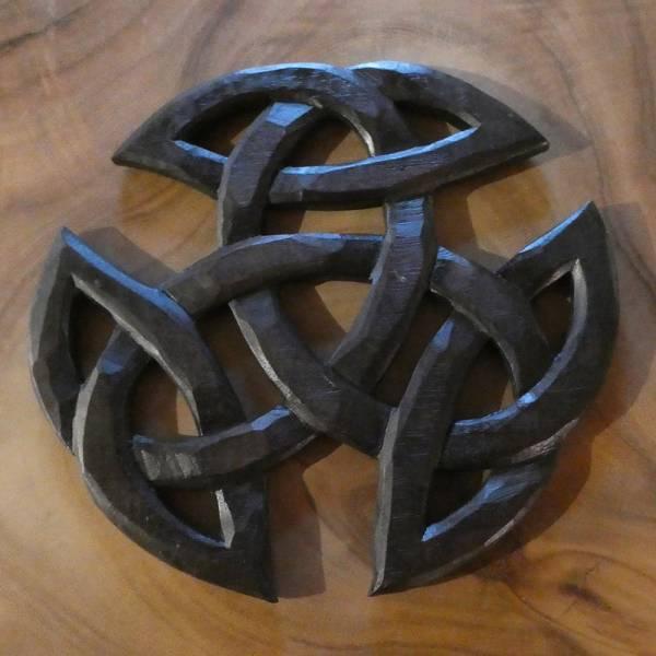 Keltische Schnitzerei Holz Kunst Handwerk