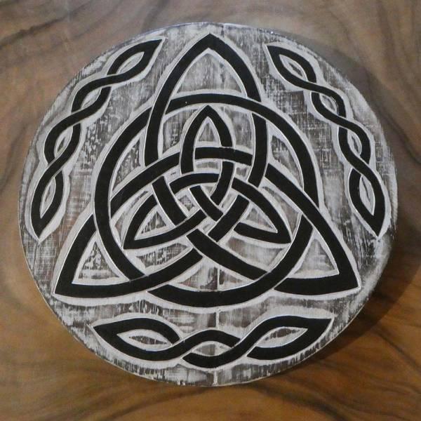 Keltische Wand dekoration Holz bemalt
