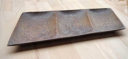 Palmholz Schale 3-geteilt