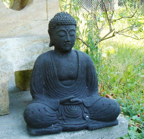 Buddha Stein sitzend 20cm