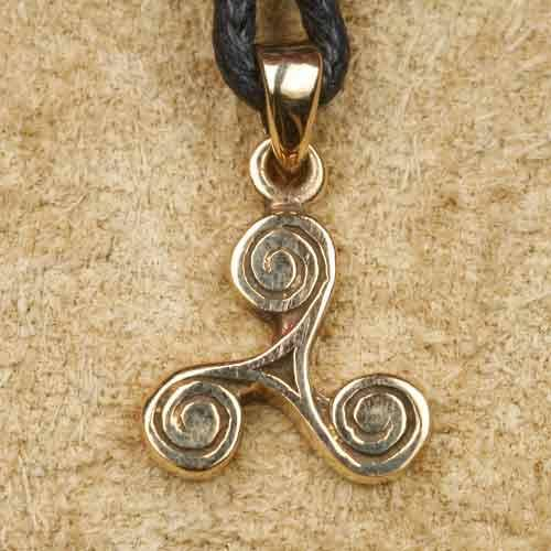 Bronze Schmuck Triskele Anh