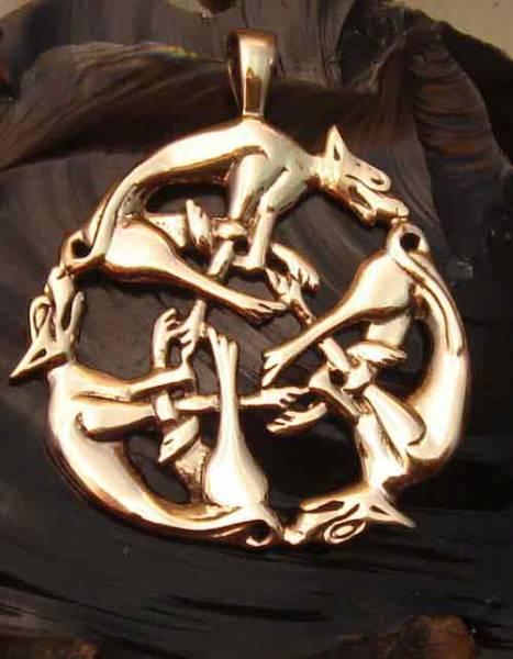 keltischer Schmuck Wilde Jagd Bronze