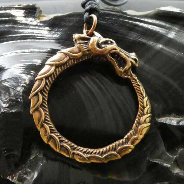 Midgardschlange Schmuck Mittelalter Bronze