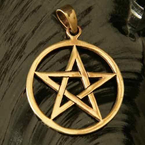 Pentagramm Bronze Schmuck Anhänger
