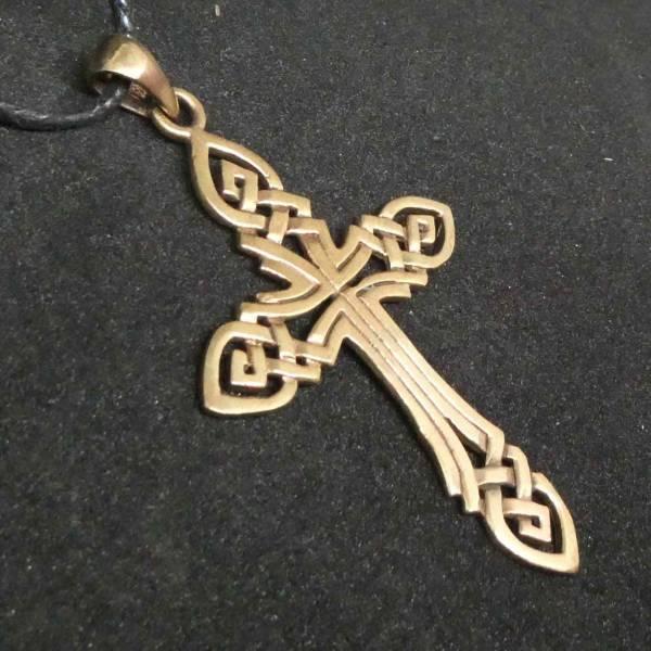Keltenkreuz Schmuck Kette Bronze Anhänger