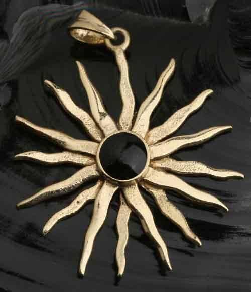 Sonne Onyx Bronze Schmuck Anh
