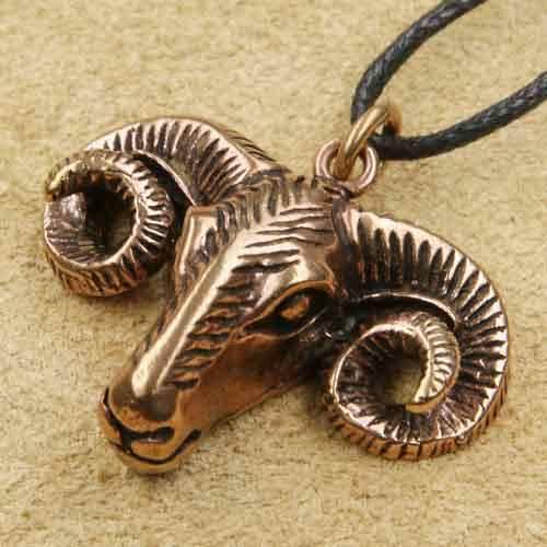 Bronze Schmuck Widder