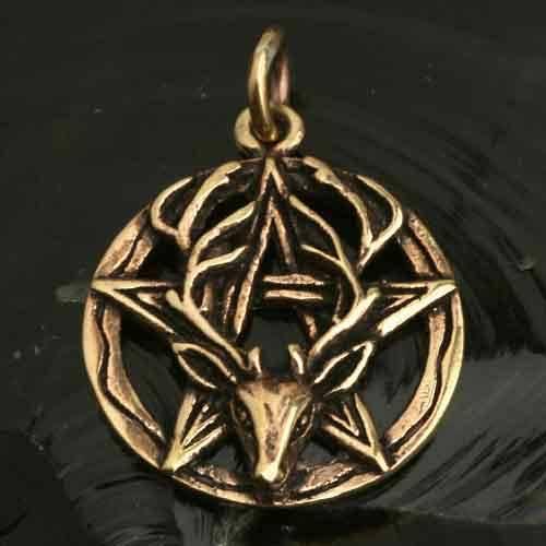 Pentagramm Bronze Schmuck Anh