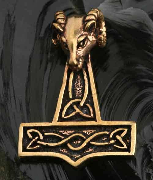 Thor Hammer Widderkopf Bronze Anh