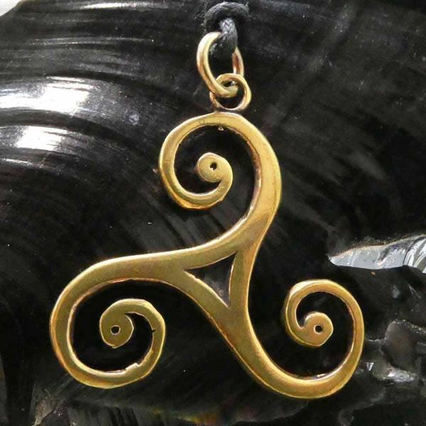 Triskelion Schmuck Kette Bronze