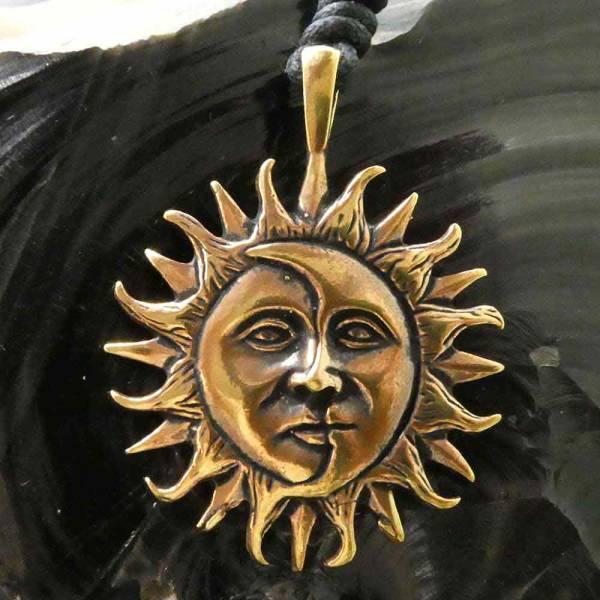 Eclipse Schmuck Kette Bronze