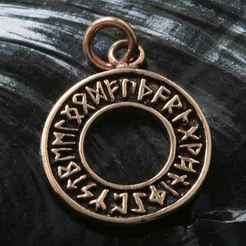 Runenkreis Bronze Schmuck Anh