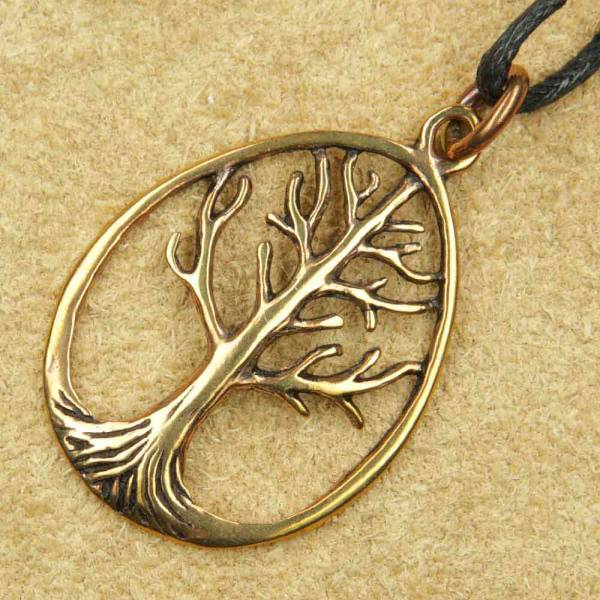 Lebensbaum Schmuck Anhänger Bronze
