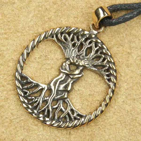 Lebensbaum Schmuck Bronze keltischer  Anhänger