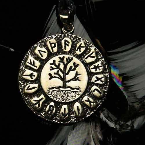 Runen Schmuck Lebensbaum Bronze