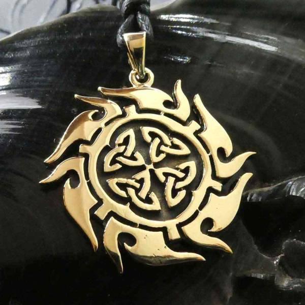 keltische Sonne Schmuck Bronze Anhänger