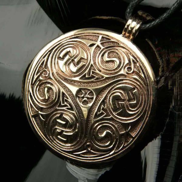 Triskel Schmuck Bronze groß