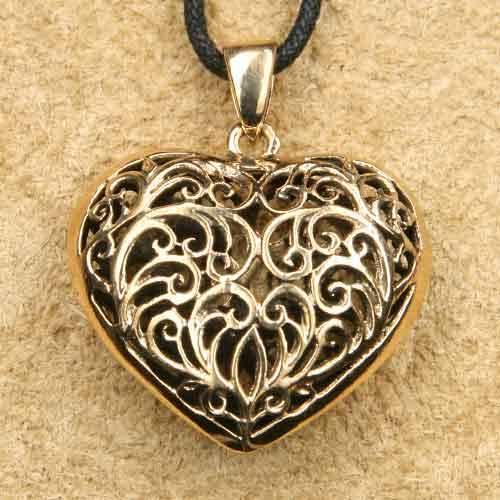 Herz Schmuck Anhänger Bronze