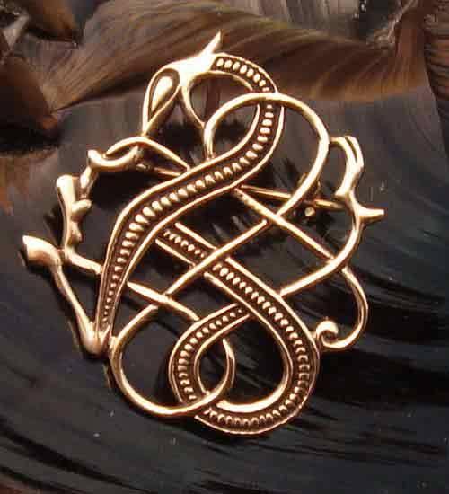 Bronze Brosche Drache Schmuck