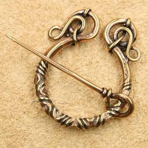 Fibel keltische Brosche Bronze Mittelalter Schmuck