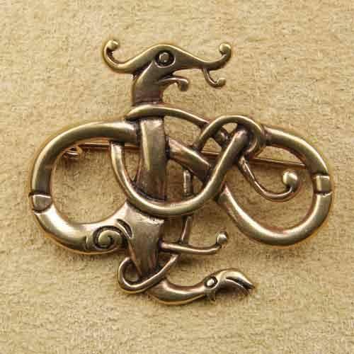 Bronze Brosche Celtic Beast