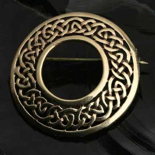 Bronze Brosche Keltenknoten fein