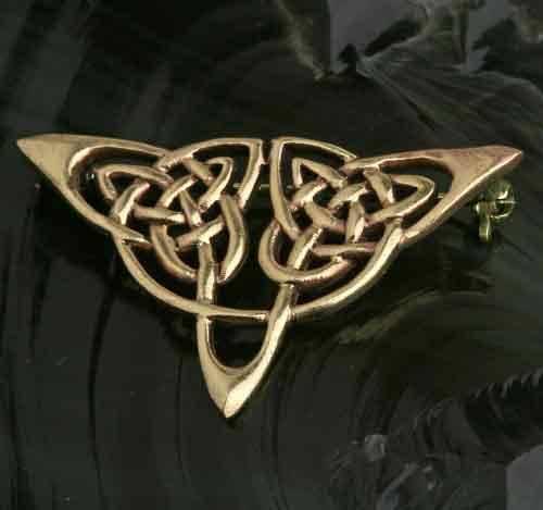 Bronze Brosche Dreieck Keltenknoten