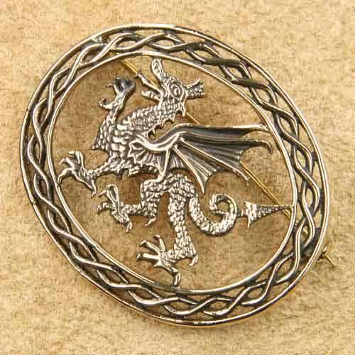 Drache Schmuck Brosche Bronze Mittelalterschmuck