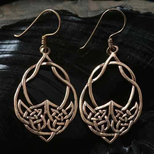 keltisches Blatt Ohrschmuck Bronze Ohrh