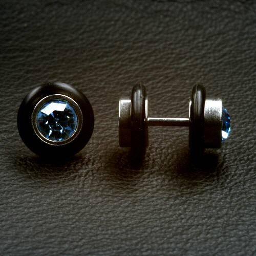 Fakeplug blau Fake Ohrtunnel